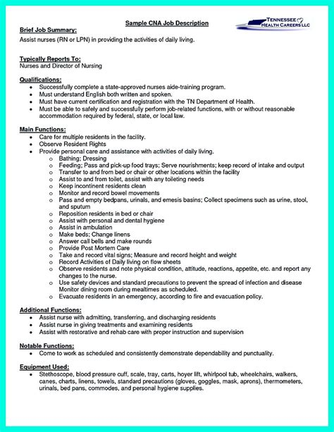 Resume For Cna Hospital by Quot Mention Great And Convincing Skills Quot Said Cna Resume Sle