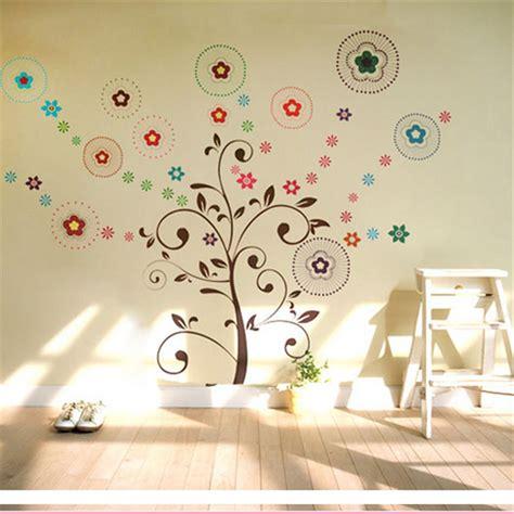 autocollant chambre sticker mural fleur lettre amovible décoration autocollant