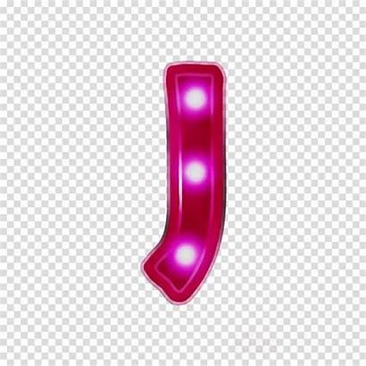 Neon Alphabet Lights Clipart Transparent Letter Clip