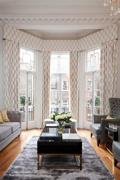 curtains  bay windows living room cool window