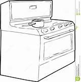 Stove Pot Gas Outline Drawing Cooking Sketch Della Profilo Clipart Het Sopra Coloring Enige Inductiefornuis Generische Overzicht Entwurfsskizze Schizzo Topf sketch template