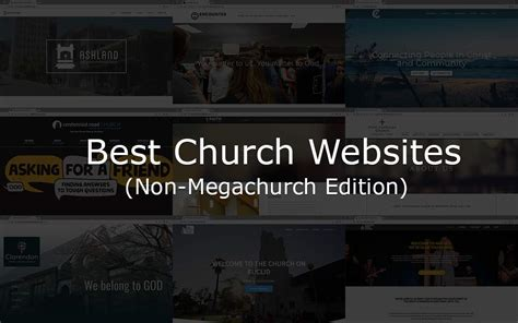 The Best Church Websites Of 2018, Non-megachurch Edition