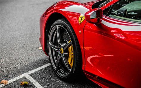 Download 3840x2400 Wallpaper Red Supercar, Ferrari, Wheel