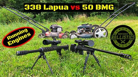 Bmg Vs 338 Lapua by 338 Lapua Vs 50 Bmg Vs Running Engines Doovi