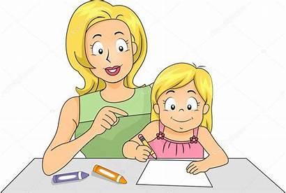 Teaching Mom Daughter
