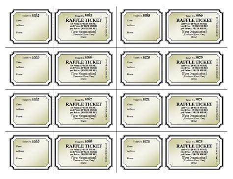 raffle ticket template raffle  templates