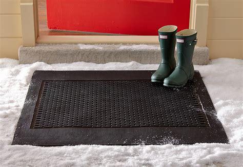 snow doormat electric snow melting door mat sharper image