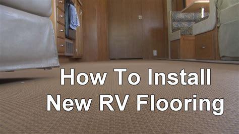 install  rv flooring youtube