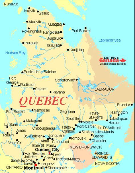 map  quebec    parisor french canada