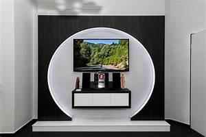 Tv Paneel Wand : fernsehw nde sideboards tv m bel tv wall die tv wand aus schreinerhand ~ Sanjose-hotels-ca.com Haus und Dekorationen