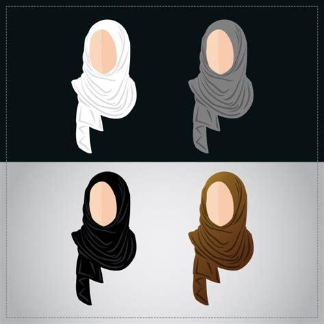 hijab store logo premium vector