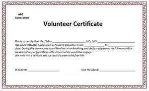 volunteer appreciation certificates free templates images With volunteer appreciation certificates free templates