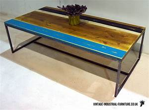vintage industrial striped coffee table With vintage industrial coffee tables