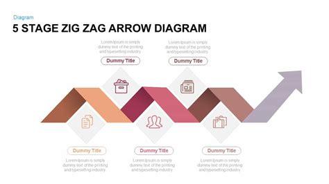 stage zig zag arrow diagram powerpoint  keynote template slidebazaar