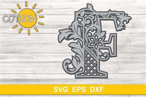 Check out our 3d alphabet svg selection for the very best in unique or custom, handmade pieces from our paper, party & kids shops. 3D Alphabet Layered Mandala F - 3 layers SVG (523236 ...