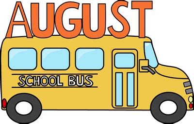 August School Bus Clip Art - August School Bus Image