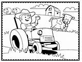 Coloring Farm Pages Farmer Machinery Agriculture Tractor Printable Sheets Animals Traktor Boy Animal Ausmalbilder Cartoon Doghousemusic Coloringpagesfortoddlers Boys sketch template
