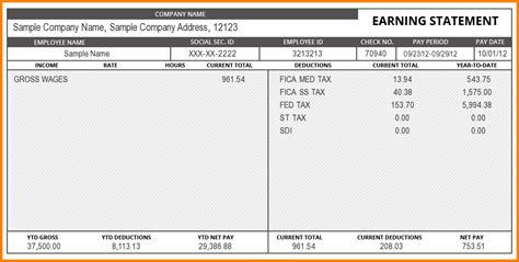 create paycheck stub template free create pay stubs online free
