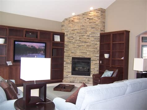 corner fireplace vaulted ceiling search and