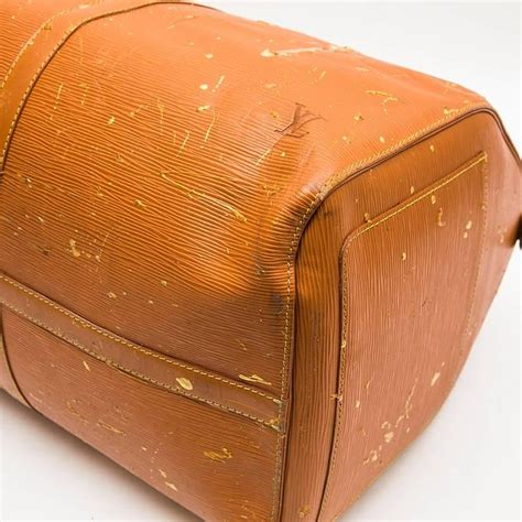 louis vuitton keepall customized bag  cipengo gold epi leather  stdibs