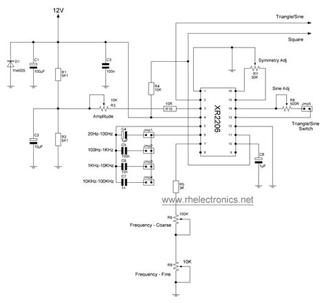 xr schematic electronic diagrams function