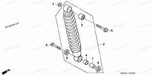 Honda Atv 2006 Oem Parts Diagram For Rear Shock Absorber