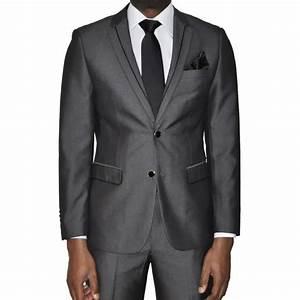 Costume Mariage Homme Gris : costume homme gris coupe slim f gris achat vente costume tailleur cdiscount ~ Mglfilm.com Idées de Décoration