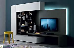 Parete soggiorno attrezzata librano arredo design