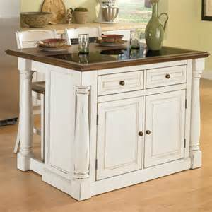 Marble Top Kitchen Islands Home Styles Monarch Kitchen Island Set With Granite Top Reviews Wayfair