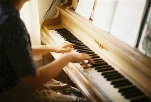 girl, keys, notes, photography, piano - image #190156 on ...