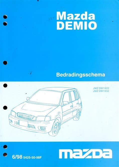 mazda demio electrical wiring diagram workshop manual