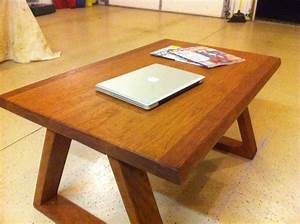 Handmade contemporary cherry brazilian cherry coffee table for Modern cherry coffee table