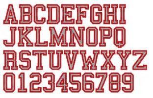 2 Color Athletic Embroidery Font