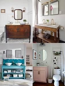 Idée Meuble Salle De Bain : meuble salle de bain r cup 70 id es pour une d co qui ~ Dailycaller-alerts.com Idées de Décoration