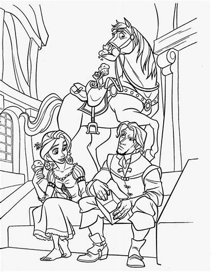 Tangled Coloring Pages Rapunzel Printable Pascal Flynn