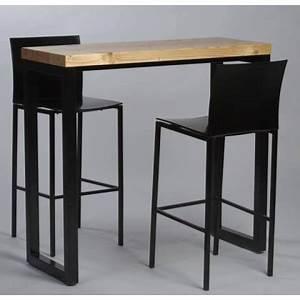 Table Haute Industrielle : table haute industrielle 120x60 cm ~ Melissatoandfro.com Idées de Décoration