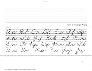 writing   cursive template