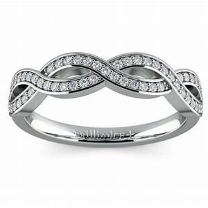Infinity Twist Diamond Wedding Ring In Platinum