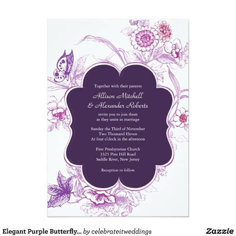 1000 ideas about butterfly wedding invitations on