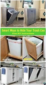 Diy, Trash, Can, Cabinet, Projects, Instructions
