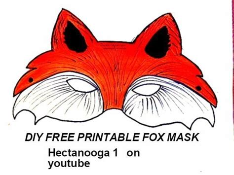 printable fox mask   draw paint  piece