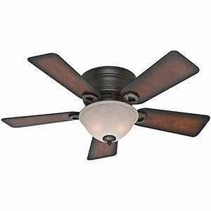 Hugger ceiling fans with lights