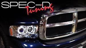 Specdtuning Installation Video  2002-2005 Dodge Ram Head Lights    Projector Head Lights