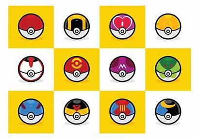 Pokeball Types Typen Pokemon Ball Svg Vecteezy