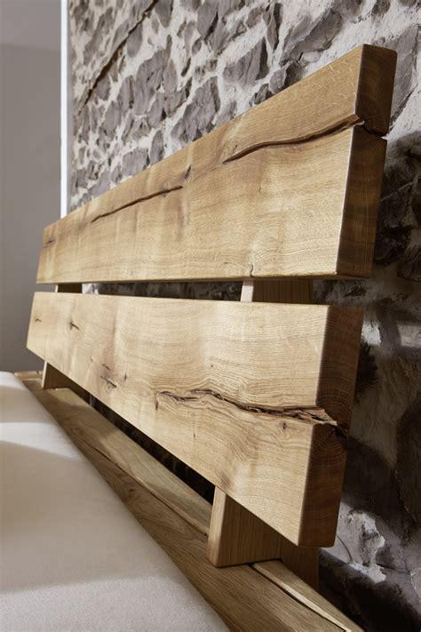 SAM® Massivholzbett Balkenbett Wildeiche 200 x 200 cm JONAS