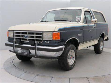 buy   bronco xlt  auto bluewhite