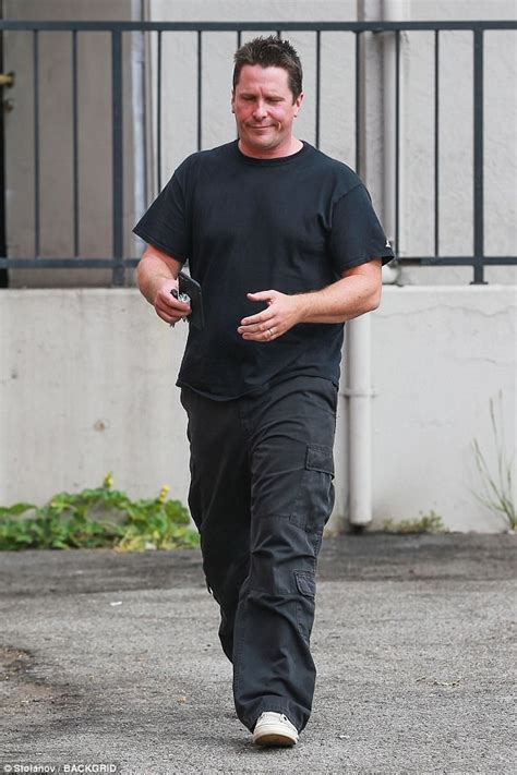 Christian Bale Looks Full Figured For Upcoming Role