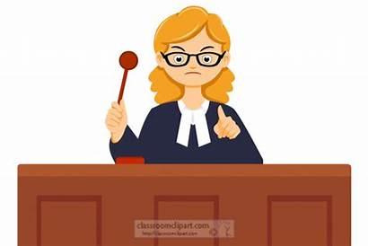 Judge Clipart Gavel Female Court Legal Holding
