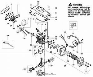 Poulan S1838 Snapper Gas Saw  Snapper S1838 Gas Saw  1838 Snapper Gas Saw Parts Diagram For
