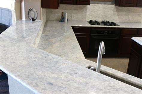 tile on kitchen countertops kitchen iceberg blue quartzite countertops modern 6174